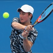 Omar Jasika in action at Australian Open 2015; Getty Images