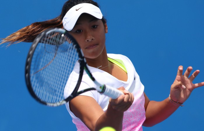 during the Australian Open 2015 Junior Championships at Melbourne Park on January 25, 2015 in Melbourne, Australia.