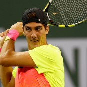 Thanasi Kokkinakis in action at the BNP Paribas Open in Indian Wells; Getty Images