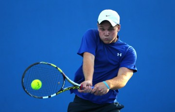 MELBOURNE, AUSTRALIA - JANUARY 26:  Daniel Hobart of Australia in action during the Australian Open 2015 Junior Championships at Melbourne Park on January 26, 2015 in Melbourne, Australia.  (Photo by Wayne Taylor/Getty Images)