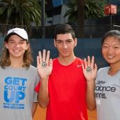 (L-R) Matthew Romios, Ismail Bagdas and Jeanette Lin; Elizabeth Xue Bai