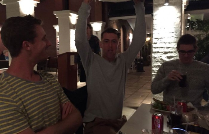 John Millman celebrates Hall of Fame induction at the Norman Hotel; Courtesy @johnhmillman