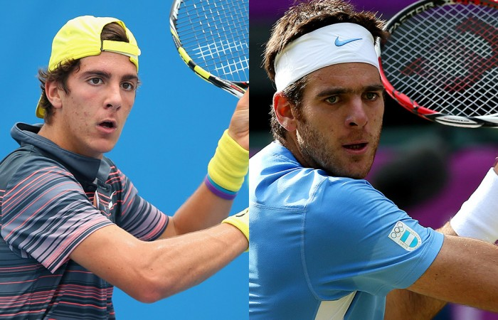 Thanasi Kokkinakis (L) and Juan Martin del Potro; Getty Images