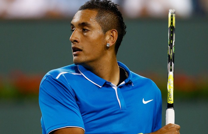 Nick Kyrgios in action at Indian Wells 2015; Getty Images