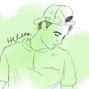 Drawing of Omar Jasika by a twitter fan; courtesy @hey_its_helena