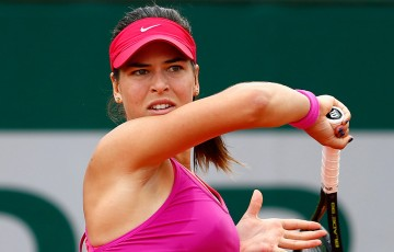 Ajla Tomljanovic in action during her first round win over Casey Dellacqua at Roland Garros 2015; Getty Images
