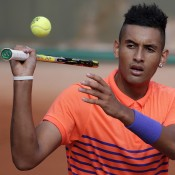 Nick Kyrgios in action during his first round win over Denis Istomin; Getty Images