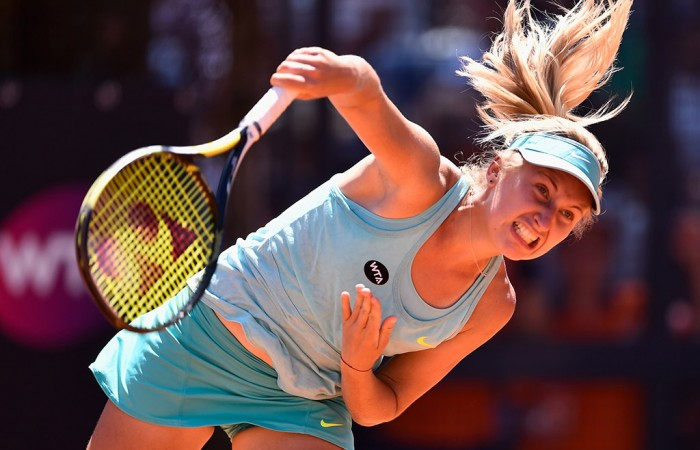 Daria Gavrilova in action at the Internazionali BNL d'Italia; Getty Images