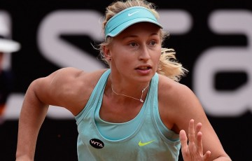 Daria Gavrilova in action during the 2015 Internazionale BNL d'Italia in Rome; Getty Images