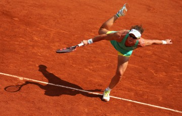 Sam Stosur in action during her second-round win over Amandine Hesse at
