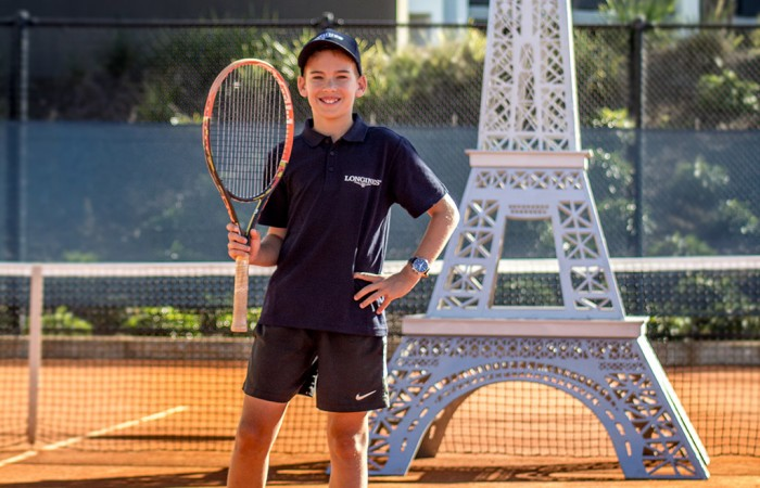Casey Hoole at the Queensland Tennis Centre at the announcement of his participation at the Longines Future Tennis Aces event; Longines