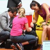 Jarmila Gajdosova takes an injury timeout; Getty Images