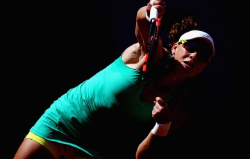Sam Stosur in action during her second-round victory over Amandine Hesse at Roland Garros 2015; Getty Images