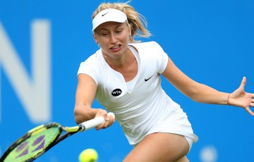 Daria Gavrilova in action at the AEGON International in Eastbourne, England; Getty Images