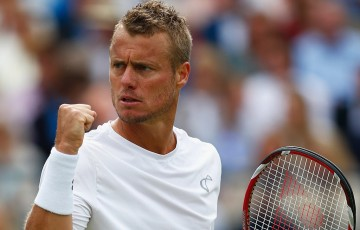 Lleyton Hewitt in action at Queen's Club; Getty Images