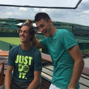 Thanasi Kokkinakis (L) and Bernard Tomic