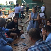 Ajla Tomljanovic chats to the media