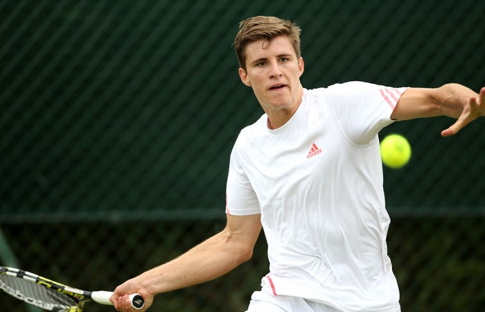 Ben Mitchell in action at Wimbledon qualifying; Getty Images