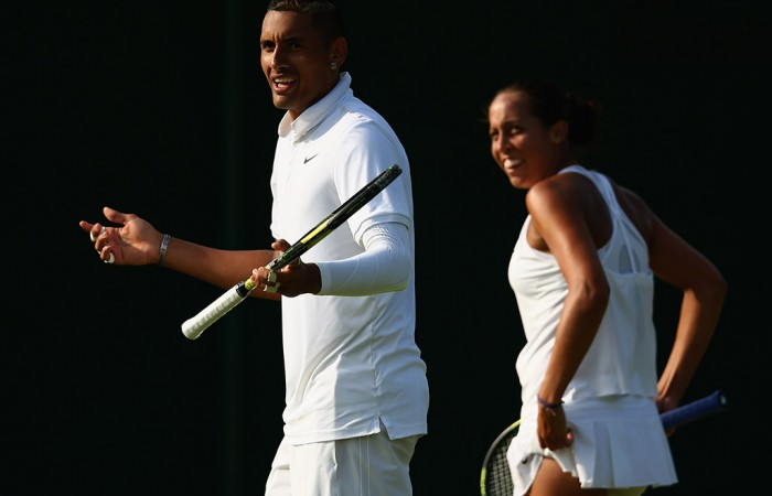 Nick Kyrgios (L) and Madison Keys were opening-round winners in the mixed doubles; Getty Images