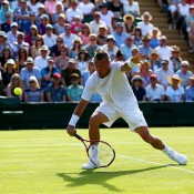 Lleyton Hewitt bowed out in five sets in his last ever Wimbledon campaign, falling to fellow veteran Jarkko Nieminen; Getty Images