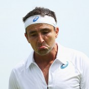 Marinko Matosevic fell in five sets to Liam Broady in the first round; Getty Images