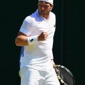 Sam Groth has made a career-best run through to the third round - he'll next meet No.2 seed Roger Federer; Getty Images