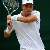 James Duckworth advanced to the second round before falling to compatriot Sam Groth; Getty Images