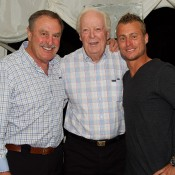 (L-R) John Newcombe, Fred Stolle and Lleyton Hewitt; John Anthony