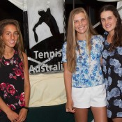 Australian juniors (L-R) Seone Mendez, Maddison Inglis and Kimberly Birrell; John Anthony
