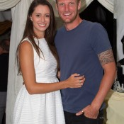 Sam Groth (R) and girlfriend Brittany Boys; John Anthony