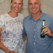 Australian Fed Cup captain Alicia Molik (L) and Davis Cup captain Wally Masur; John Anthony