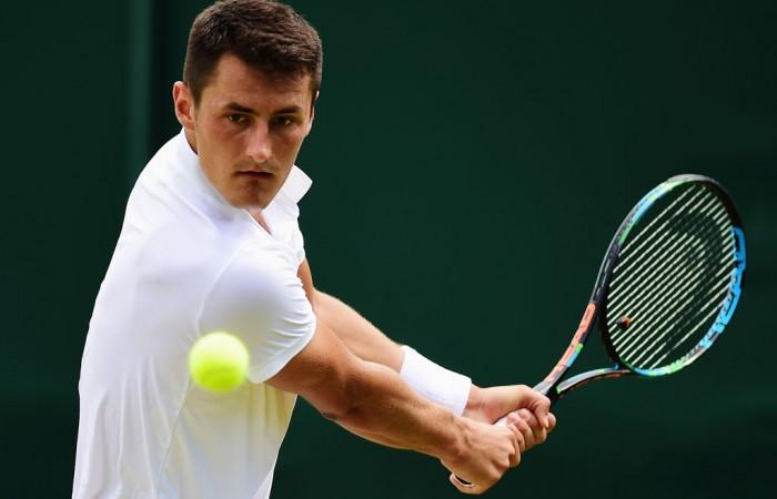 Bernard Tomic at Wimbledon; Getty Images