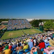 An aerial view of the Marrara Sporting Complex in Darwin during Australia's Davis Cup quarterfinal tie against Kazakhstan; Getty Images