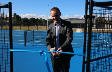 ACT Chief Minister Andrew Barr MLA officially opens the redeveloped Canberra Tennis Centre.
