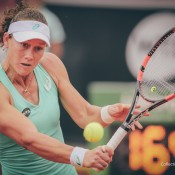 Sam Stosur in action at the Collector Swedish Open in Bastad; Fredric Berggren