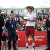 Bernard Tomic celebrates his victory at the Claro Open Colombia in Bogota; Press Office ATP 250 Claro Open Colombia