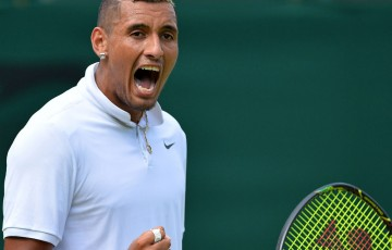 Nick Kyrgios is preparing for a fourth round showdown at Wimbledon; Getty Images