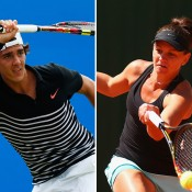 Thanasi Kokkinakis (L) and Casey Dellacqua qualified for the ATP/WTA Cincinnati Open; Getty Images