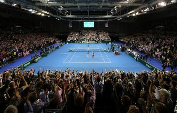 Crowds packed into Emirates Arena in Glasgow for Great Britain's Davis Cup World Group first round victory over the United States in March; Getty Images
