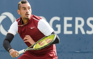 Nick Kyrgios in action at the ATP Montreal Masters; Getty Images