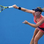 Sally Peers in action in the women's doubles at Australian Open 2014; Getty Images