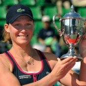 Sam captured her first WTA title in Osaka in 2009; it has proved a happy hunting ground for her, as she has gone on to win two more titles in the Japanese city (in 2013 and 2014); Getty Images