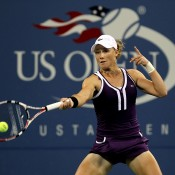 Seen here in action against Elena Dementieva in the fourth round of the 2010 US Open, Sam would eventually go on to win 6-3 2-6 7-6(2) - saving four match points along the way - in two hours and 38 minutes. Concluding at 1:35am, it was the latest finish to a US Open women's match in history; Getty Images