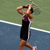 One final forehand winner past Serena Williams sealed Sam's victory at the 2011 US Open, her first Grand Slam title in what was one of the biggest upsets in tennis history; Getty Images