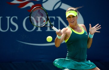 Ajla Tomljanovic in action during her first-round US Open loss to Karin Knapp; Getty Images