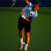 Sam Groth found the going tough against 26th Tommy Robredo in the second round, falling in straight sets; Getty Images