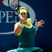 Ajla Tomljanovic pushed the in-form Karin Knapp to three sets before falling in the first round; Getty Images
