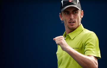 John Millman pushed Sergiy Stakhovsky before falling to the Ukrainian in four sets in the opening round; Getty Images