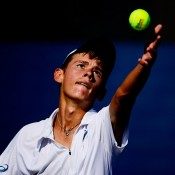 Alex De Minaur in action in the boys' singles at the US Open; Getty Images