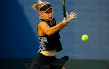 Daria Gavrilova in action during her first-round loss to Daria Kasatkina at the US Open; Getty Images